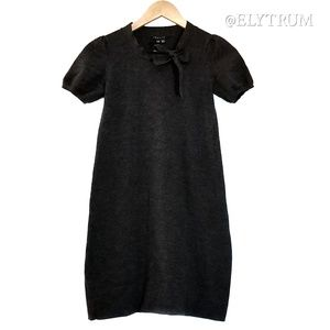 Theory wool blend cap sleeve bow tie dress
